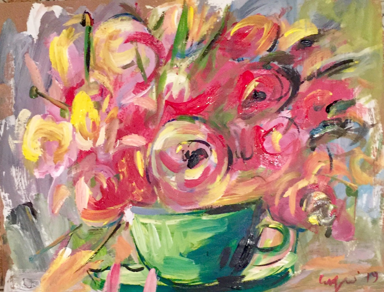 Primo Canepari - tazza di fiori