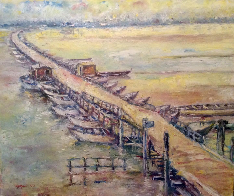 Primo Canepari - Il ponte sul po