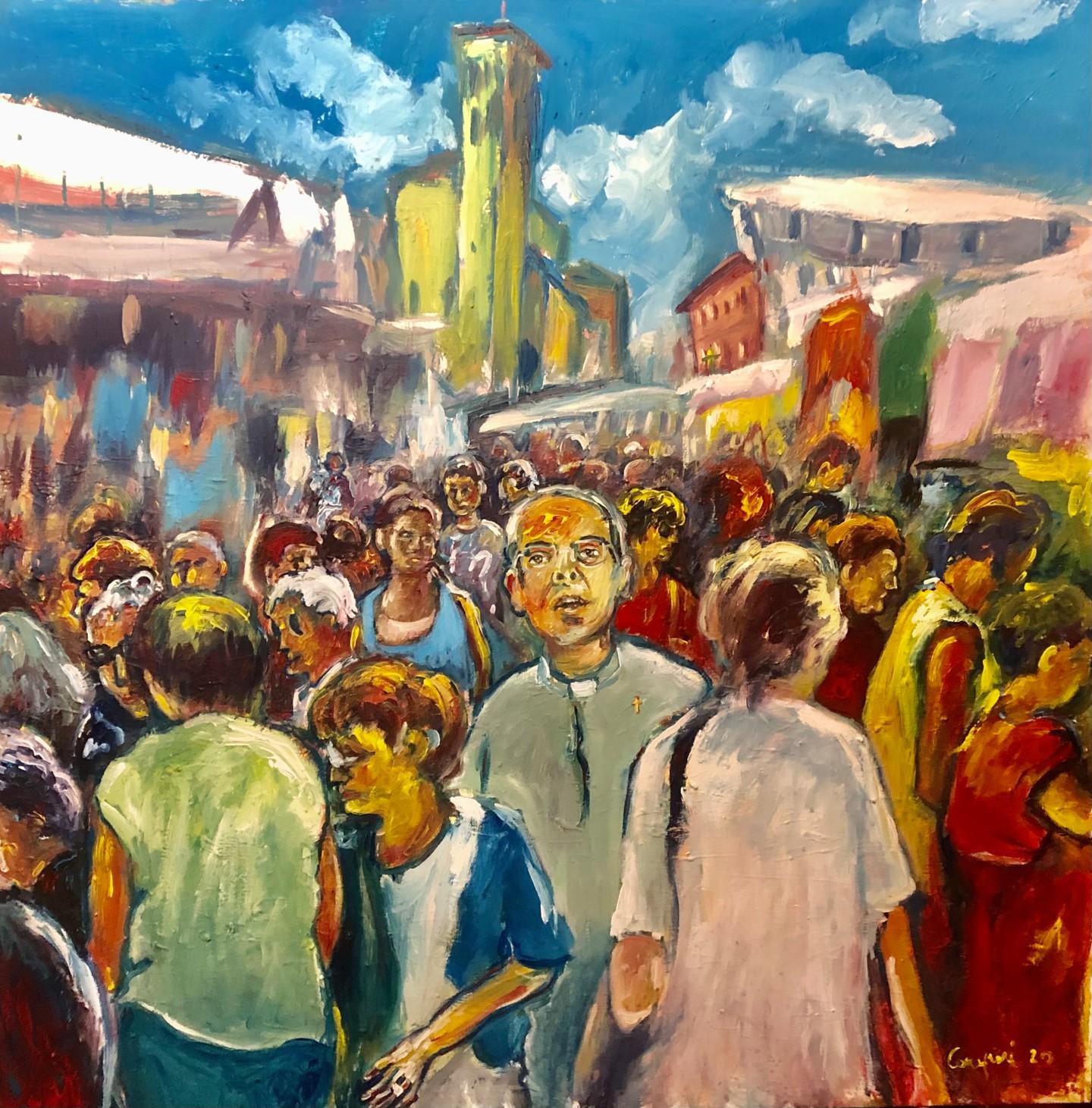 Primo Canepari - Mercato a Salvaterra